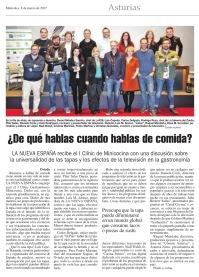 Crónica publicada por el diario La Nueva España