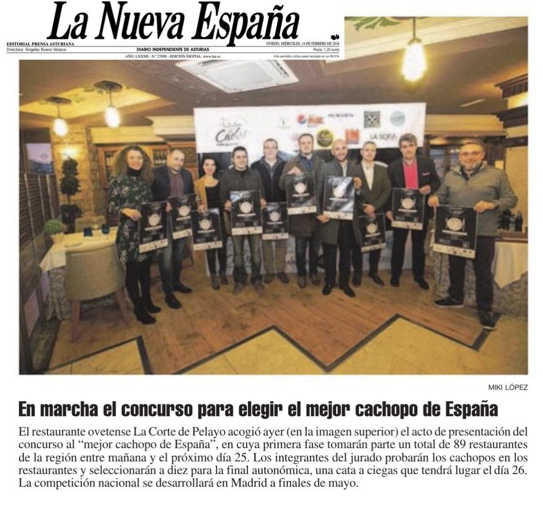 LNE Raquel Concurso Cachopo Presentación